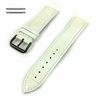 Longines Compatible White Croco Genuine Leather Replacement Watch Band Strap Black PVD Steel Buckle #1055