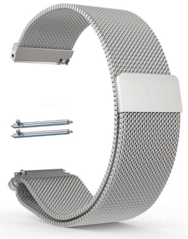 Magnetic Clasp Stainless Steel Metal Mesh Milanese Bracelet 20mm Watch Band #5041