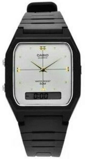 Men's Casio Black Classic Digital Analog Watch AW48HE-7AV