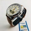 Men's Casio Digital And Analog Brown Leather Band 46 mm. Watch AMW810L-5AV