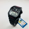 Men's Casio Digital Square Black And Pink Resin Watch AE1300WH-1A2