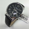 Men's Casio Black Leather Strap Dress Watch MTPE105L-1AV