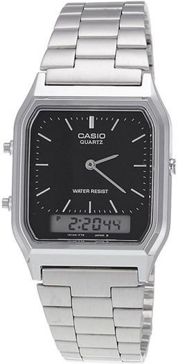 Men's Casio Silver Classic Digital Analog Watch AQ230A-1DM