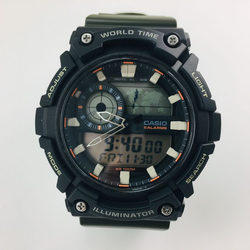 Men's Casio Sports Digital Analog World Time Watch AEQ200W-3AV