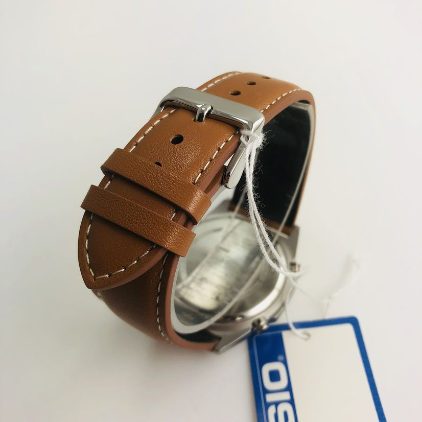 Men's Casio Tough Solar Brown Leather Band Watch AMWS820L-2AV AMWS820L-2A