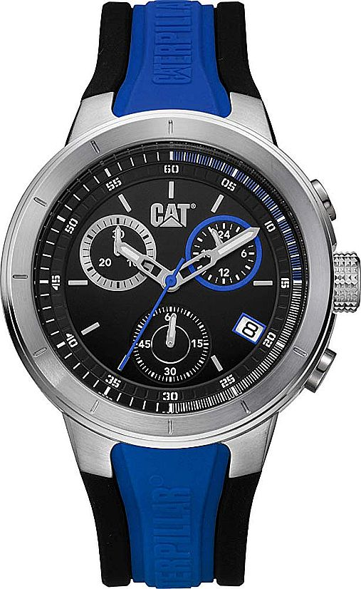 Men's CAT Caterpillar T8 Steel Chronograph 44mm Watch NA14326126