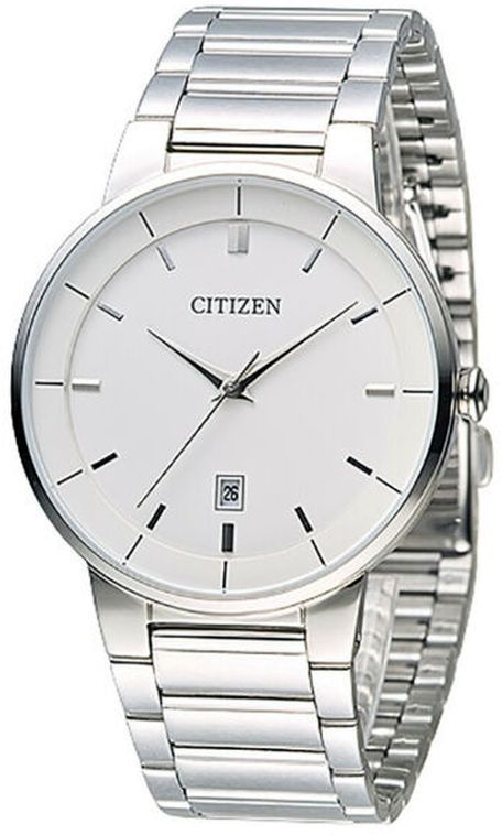 Men S Citizen Classic Silver Tone Stainless Steel Band Watch Bi5010 59a