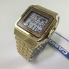 Men's Gold-Tone Casio World Time Stainless Steel Watch A500WGA-9 A500WGA-9D