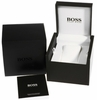Men's Black Hugo Boss Silver Dial Watch 1512937