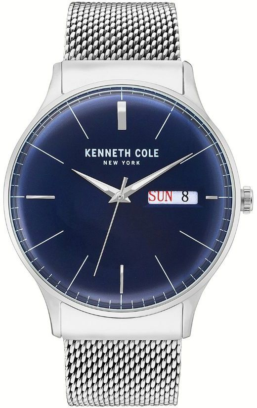 Men's Kenneth Cole Classic Day-Date Mesh Band Watch KC50589004
