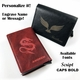 Men's Leather RFID Blocking Money Clip Wallet Credit Card Holder Octopus Logo #0099