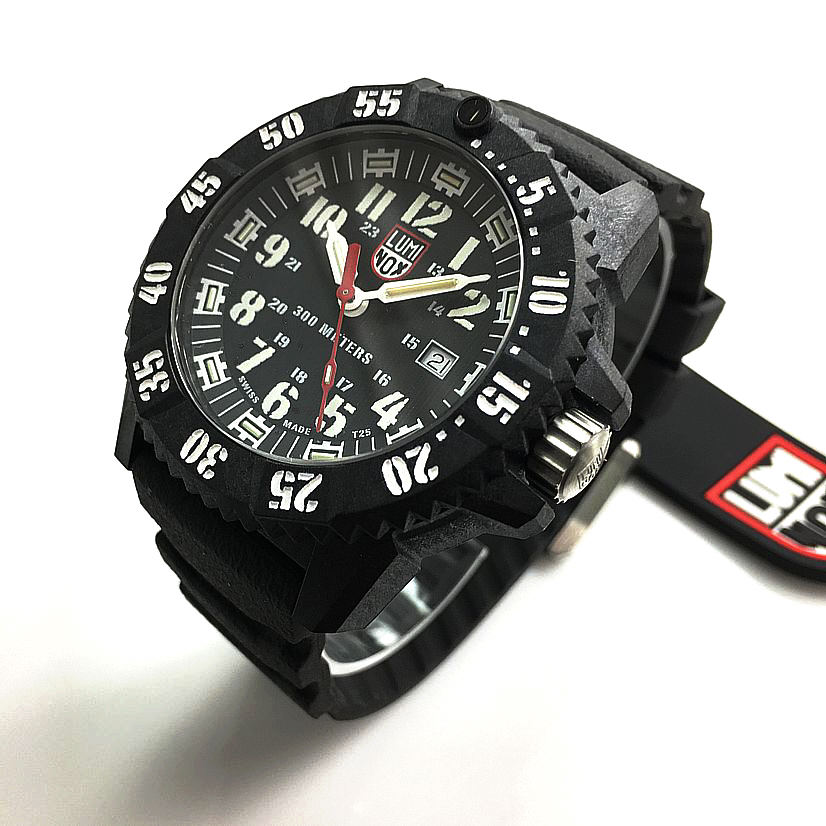 Men's Luminox Carbon SEAL 46mm Diver's 300M Watch 3801