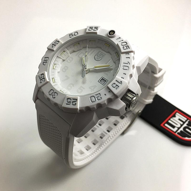 Men's Luminox Navy SEAL Trident White Diver's 45mm Watch 3507.WO