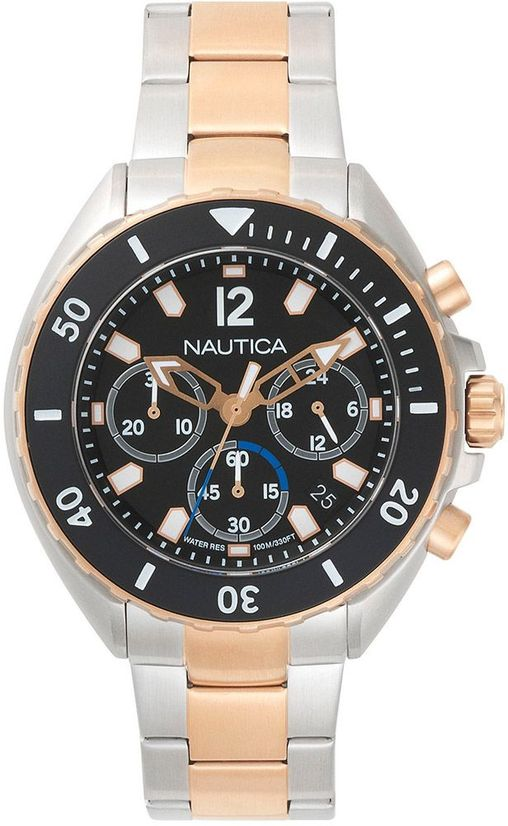 Men's Nautica Newport Chronograph Stainless Steel 47mm Watch NAPNWP006
