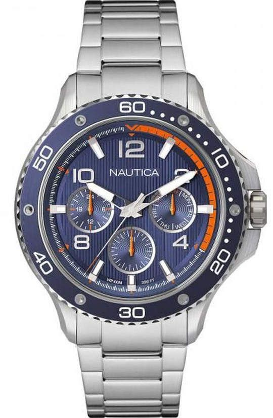 Men's Nautica Pier 25 Multifunction Steel 48mm Watch NAPP25006