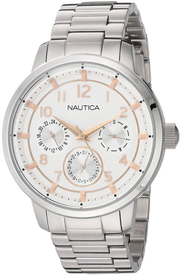 Men's Nautica Stainless Steel 44mm Watch NAD16554G