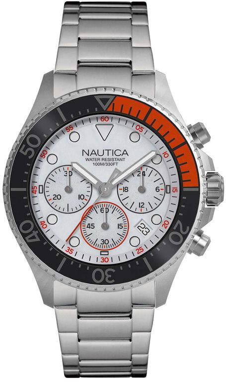 Men's Nautica Westport Chronograph Stainless Steel 44mm Watch NAPWPC005