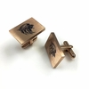 Men's Personalized Cufflinks Solid Steel Roaring Lion Head Name Engraving #0076