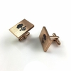 Men's Personalized Cufflinks Solid Steel With Skull Logo and Name Engraving #0004