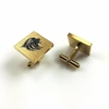Men's Personalized Cufflinks Square Steel Roaring Lion Head Name Engraving #0076