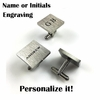 Men's Personalized Square Cufflinks Solid Stainless Steel With Name Engraving #1006