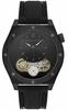 Men's Sean John Black Tone Black Silicone Band Watch SJC0177002