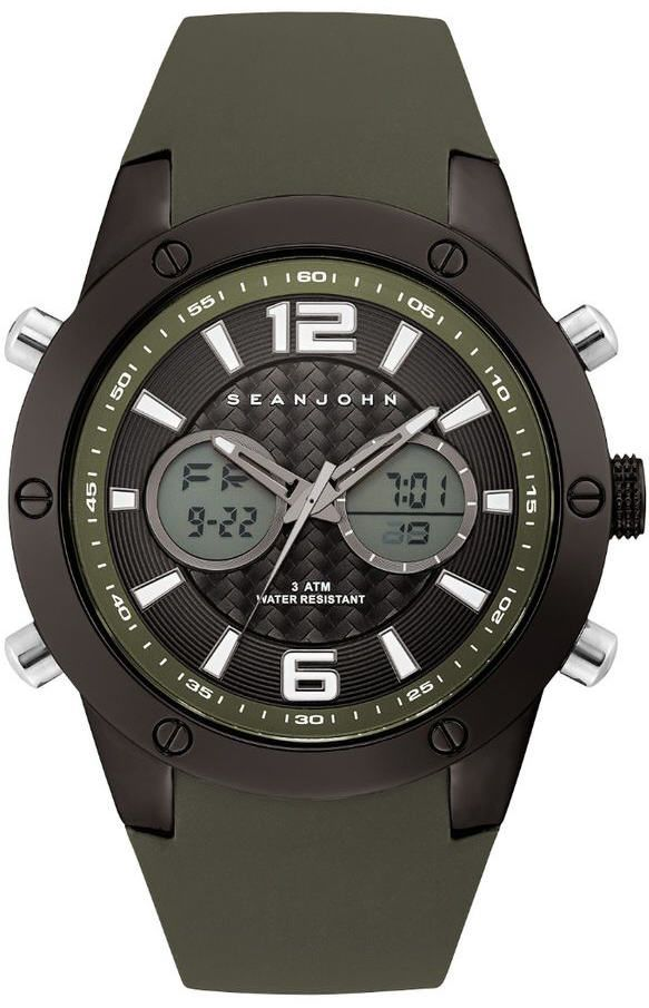 Men's Sean John Sport Ana-Digit Silicone Band Watch SJ50021004