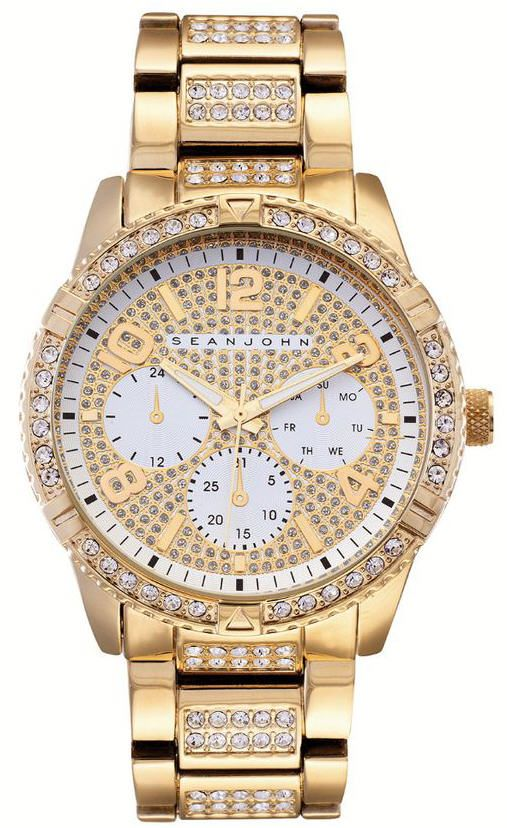 Men's Sean John Sport Gold Tone crystallized Watch SJ50895006
