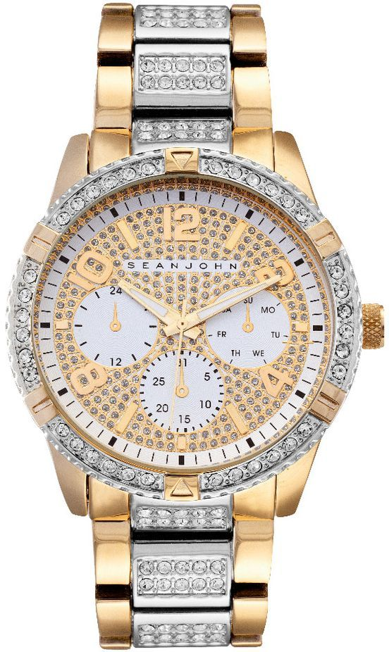 Men's Sean John Sport Gold Tone crystallized Watch SJ50895007