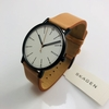 Men's Skagen Signature Leather Strap Watch SKW6352