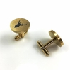 Men's Solid Round Stainless Cufflinks Cuff Links Deer Head Horn Hunting #0213