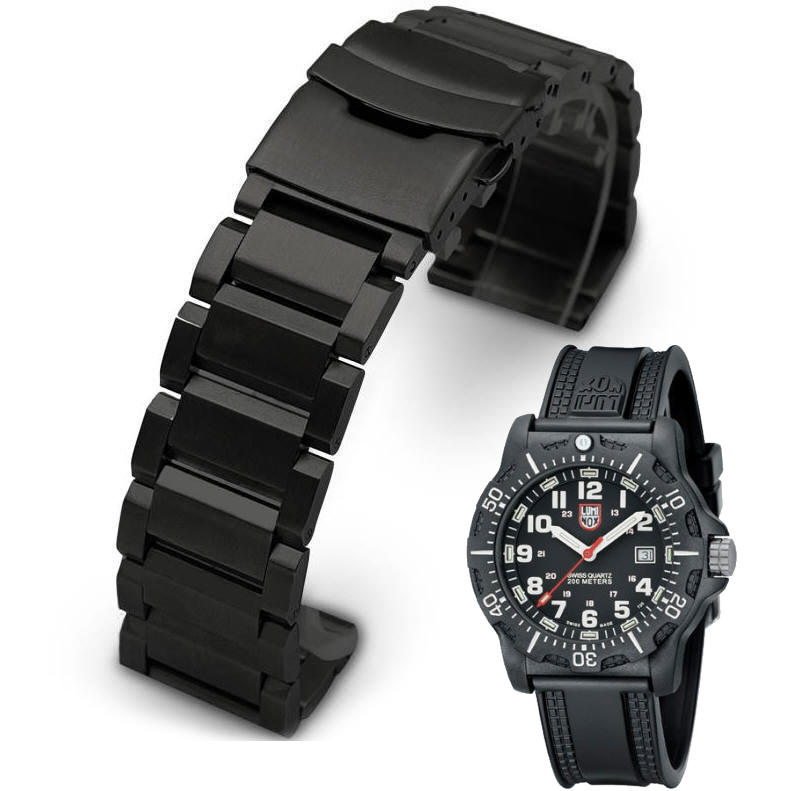 Metal Replacement Watch Band Fits Luminox Black Ops Carbon 8800 Diver's 8801 #02