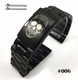 Emporio Armani Compatible Steel Metal Bracelet Replacement Watch Band Strap PVD Black Push Button Clasp #5016