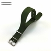 Military Green One Piece Slip Through Nylon 20mm Watch Band Strap #6006