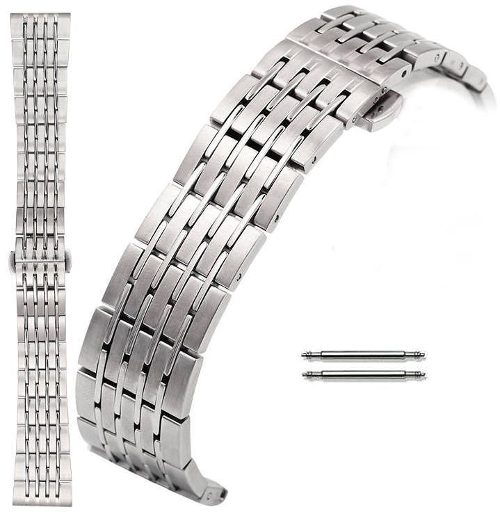 Movado Compatible Stainless Steel Metal Bracelet Replacement Watch Band Strap Butterfly Clasp 5004