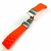 Pebble Time Classic Round Orange Rubber Silicone Replacement Watch Band Strap Double Locking Buckle #4094