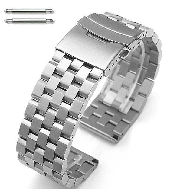 Pebble Time Classic Round Stainless Steel Metal Watch Band Strap Bracelet Double Locking Buckle #5051
