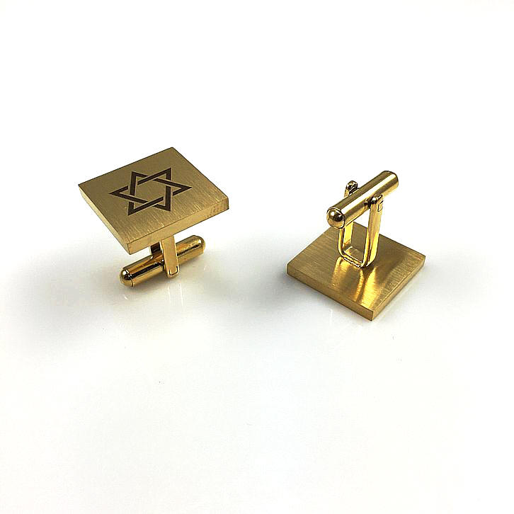 Personalized Cufflinks Magen Star Of David Jewish Israel Name Engraving #0286