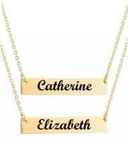 Personalized Engraved Necklace Pendants