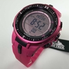 Pink Casio Protrek Solar Power Triple Sensor Watch PRW3000-4B