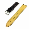 Premium Brown Croco Crocodile Grain Leather Watch Band Strap Steel Buckle #1066