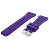 Huawei 2 Purple 22 mm Rubber Silicone Replacement Watch Band Strap Quick Release Pins #5054