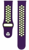 Purple & Green Silicone Replacement 20mm Watch Band Strap Quick Release Pins #4079