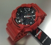 Red Casio G-Shock Analog Digital Watch GA100B-4A