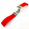 Timex Compatible Red Rubber Silicone Replacement Watch Band Strap Double Locking Buckle #4093