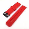 Emporio Armani Compatible Red Silicone Rubber Replacement Watch Band Strap Wide PVD Metal Steel Buckle #4027