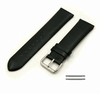 Relic Compatible Black Elegant Smooth Genuine Leather Replacement Watch Band Strap Steel Buckle #1046