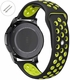 Relic Compatible Black & Green Sport Silicone Replacement Watch Band Strap Quick Release Pins #4074
