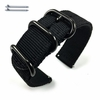 Relic Compatible Black Nylon Watch Band Strap Belt Army Military Ballistic Black Buckle #6032