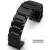 Relic Compatible Black Stainless Steel Links Bracelet Replacement Watch Band Strap Double Clasp #5002